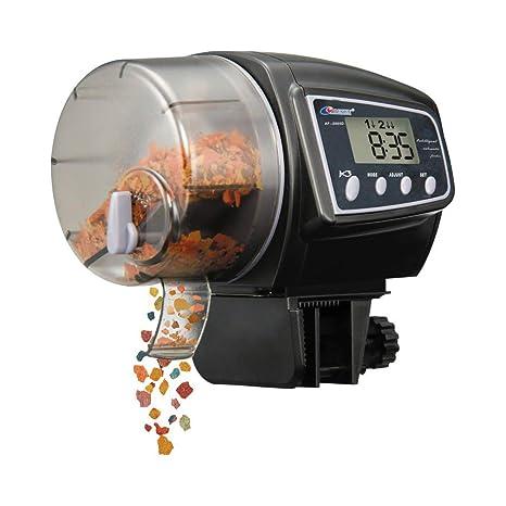 NICREW Alimentador Automatico de Peces, Alimentador Automatico Acuario, Dispensador de Comida Acuario con LCD