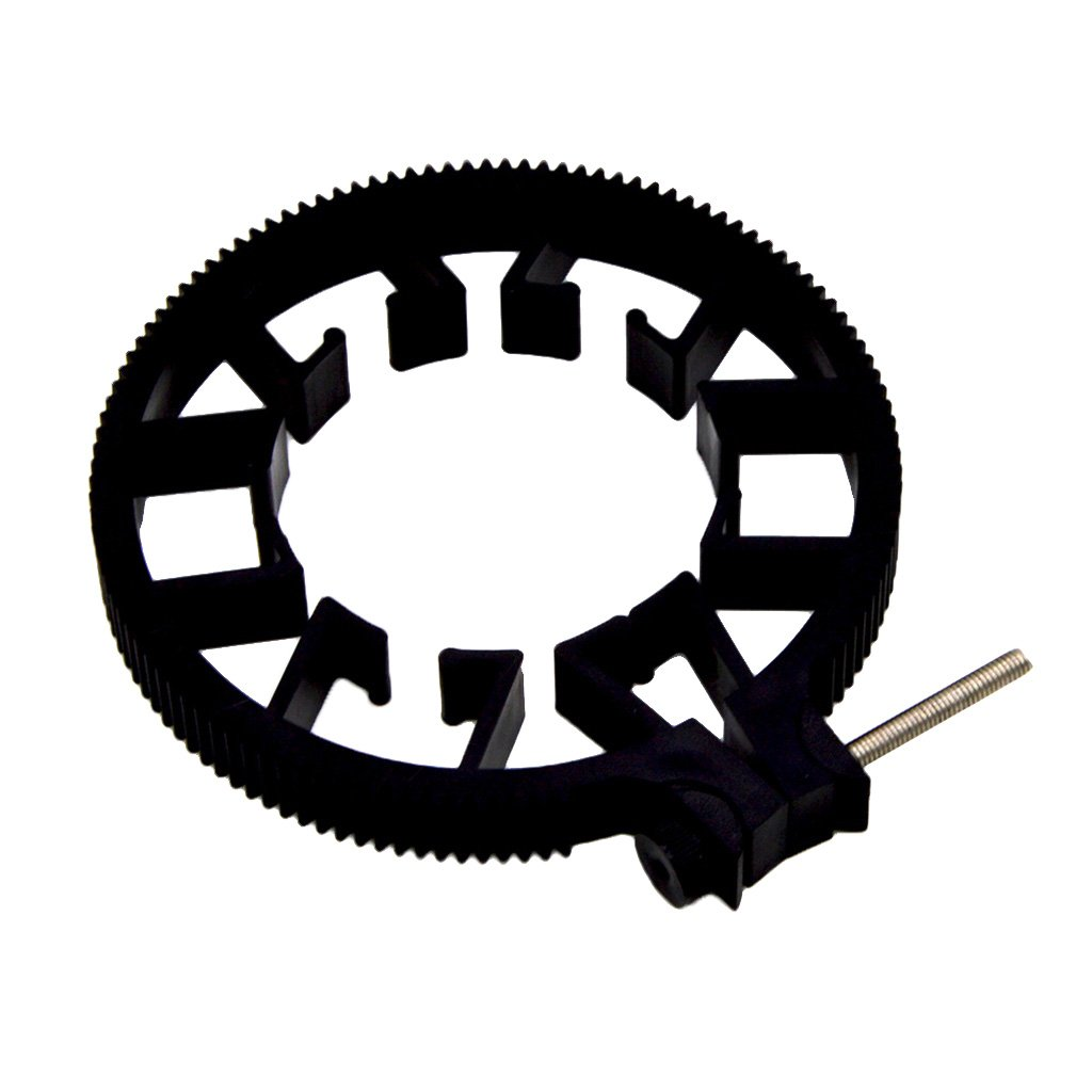 Homyl Adjustable Follow Focus Gear Ring Belt for DSLR Lenses Follow Focus, Fits Any Lens with Diameter from 55mm to 65mm by Homyl