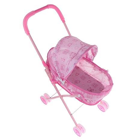Sharplace Mini Cochecito de Bebé Silla de Paseo de Simulación Plegable Desmontable Juego de Pretender para