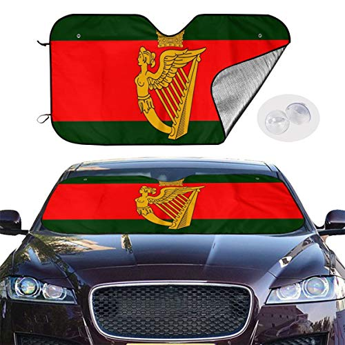 - Cocoa trade Sunshade for Car Windshield Protection Vehicle Interior Foldable Ultra Reflective Fabric Fit Keeps Out UV Rays with Suction Cup-Development & History of Irish Flags