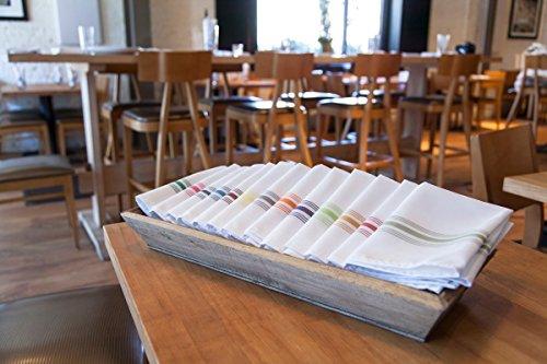 Carlisle 53771822NH052 Restaurant Quality Cloth Dinner/Bistro Napkins, 18'' x 22'', Purple Stripe (Pack of 12) by Carlisle (Image #5)