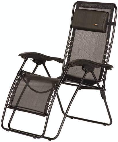 Faulkner 48972 Malibu Style Black Mesh Recliner with Plastic Armrests, X-Large