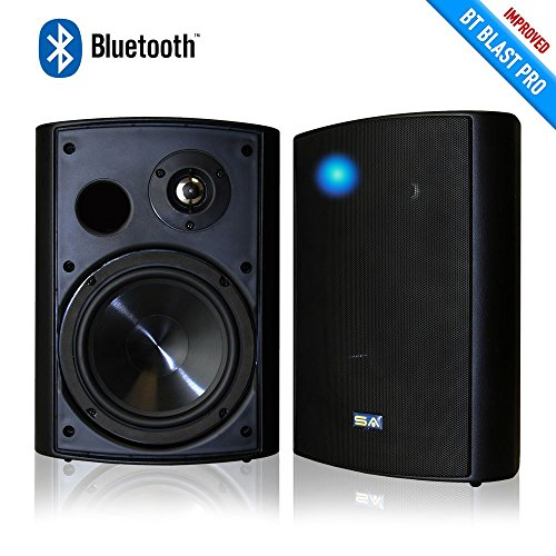 Sound Appeal Wireless Bluetooth Weatherproof Speakers (Black, 6.50 Inch, Pair)