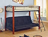 Metal and Wood Twin/ Futon Bunk Bed