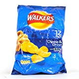 Walkers Cheese & Onion Crisps 12 Pack 350g