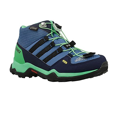 Adidas Terrex Mid GTX K - BB1953 - Color Blue-Navy Blue-Green - Size: 12.5 by adidas