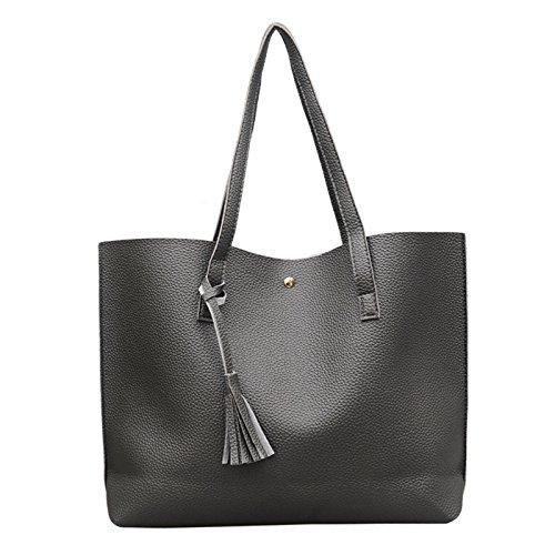 Gray JAGENIE Messenger Purse Shoulder Deep Tote Deep Women Bag Hobo Shopping Bags gray Handbag qOUrfq6