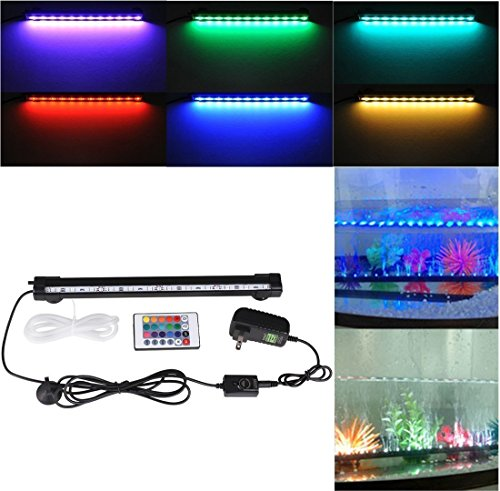 Deckey 12-Inch RGB 16 Colors Underwater Aquarium LED with Remote Image
