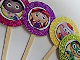 8 NEW Super Why Cupcake Toppers Birthday Party Favor Goody Bags Gift Box Treat Loot Candy Stickers