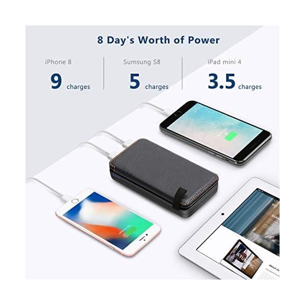 51%2B1C2WlTQL A ADDTOP Solar Powerbank 25000mAh Solar Ladegerät mit 2 USB Power Bank Wasserdicht Tragbare Externer Akku für…