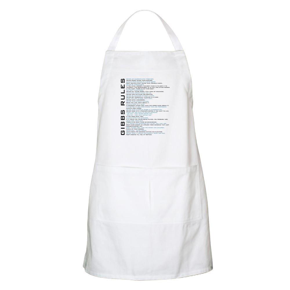 CafePress NCIS Gibbs' Rules グリルエプロン 020887023733332  ホワイト B07BCM1NYS