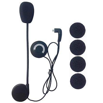 FreedConn Auriculares Para Casco Moto Micrófono Altavoz duro cable de los auriculares para nuevo TCOM FDCVB