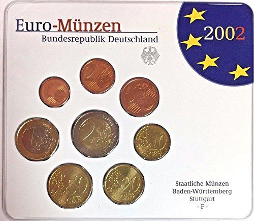 DE 2002 2002 Germany Euro Official Coin Set Special Editi Good