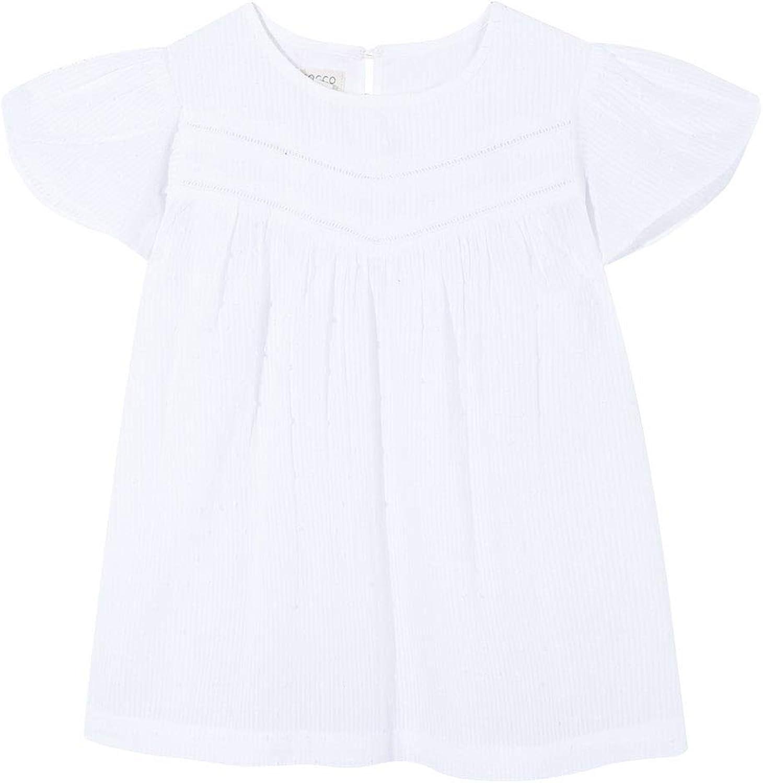 Gocco Camisa Blanca Plumeti Blouse Fille