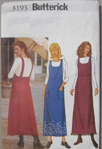 Butterick 3193 - Misses A-Line Jumper Sewing Pattern - Size 14-16-18 ...