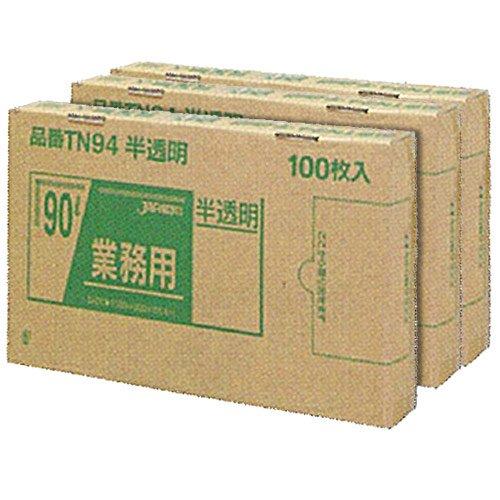 ジャパックス BOXシリーズ 半透明 90L 厚み0.040mm TN94 3BOX(300枚入)×5箱セット B00MIQP7U2