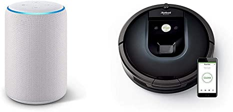 Echo Plus gris claro + iRobot Roomba 981 - Robot aspirador para ...