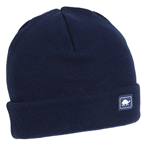 Turtle Fur Original Fleece The Hat, Heavyweight Fleece Watch Cap Beanie, Navy