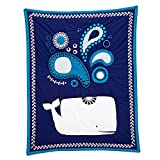 Happy Chic by Jonathan Adler Party Whale Applique Luxury( Crib Quilted /Comforter Only ) Nautical