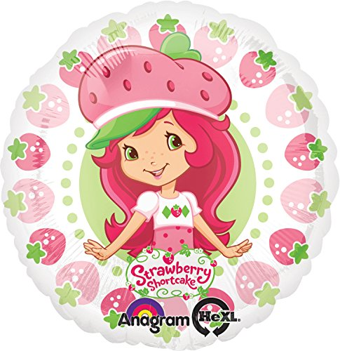 Anagram International Strawberry Shortcake Berry Pattern Foil Balloon Pack, 18