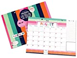2018-2019 Monthly Desk Pad or Wall Calendar, Dated August 2018 - December 2019, 12'' x 9''