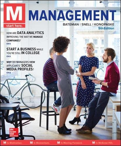 Book cover from M: Management by Thomas S Bateman