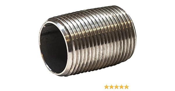 """1//2/"""" 316 Stainless Steel Pipe Nipple"""
