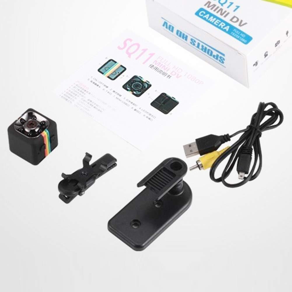 Prettygood7/Vision Camera HD 1080p DVR Quelima Sq11/120/degr/és Champ de vision nocturne Mini cam/éra de tableau de bord de voiture avant et arri/ère R/étroviseur vid/éo de voiture Enregistreur de conduite Enreg