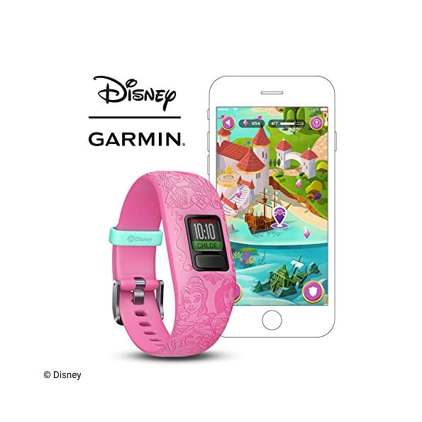 Garmin-Vivofit-Jr2-Activity-Tracker-per-Bambini-Cinturino-Regolabile-Disney-Principesse-Viola-6-Anni-in-su