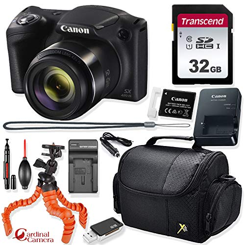 Canon PowerShot SX420 is Digital Camera (Black) + Prime Point & Shoot Travel Accessory Kit