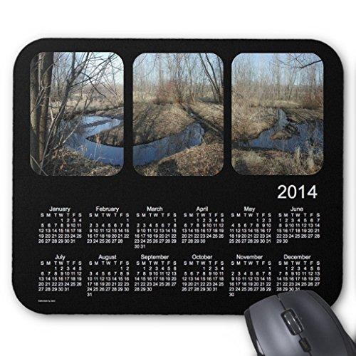 Zazzle Black 2014 Landscape Calendar Mouse Pad -