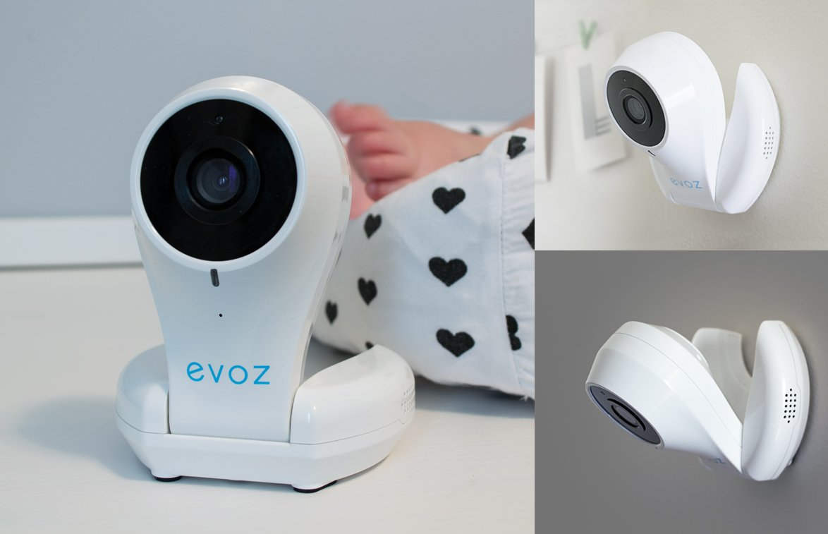 Evoz Vision Wi-Fi Video Baby Monitor with Night Vision | Unlimited Range | Cry Detection | Talk Back | HD Smart Camera | Evoz Baby Monitoring App for iOS and Android