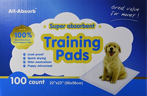 All-Absorb Training Pads 100-count, 22-inch By 23-inch.