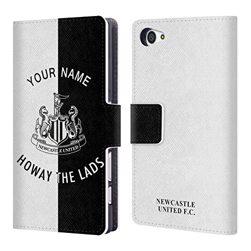 Custom Customized Personalized Newcastle United FC NUFC Howay The Lads 2017/18 Leather Book Wallet Case Cover For Sony Xperia Z5 Compact
