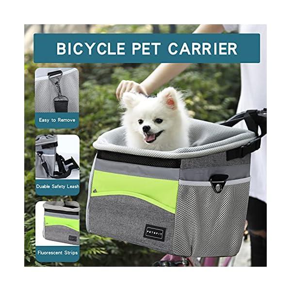 51%2B1FAa0tqS Petsfit Fahrradkorb Vorne für kleine Haustiere, Katzen, Hunde, Abnehmbarer Fahrrad Hundekorb,Schnellentriegelung…