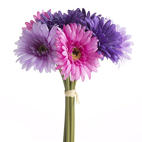 Factory Direct Craft Stunning Artificial Spring Pink and Purple Gerbera Daisy Bouquet for Crafting, Creating and - Bouquet Daisy Spring