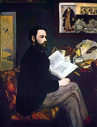 The Museum Outlet - Portrait of Emile Zola by Manet - Canvas Print Online Buy (40 X 50 Inch)