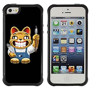 Hybrid Anti-Shock Defend Case for Apple iPhone 5 5S / Cat