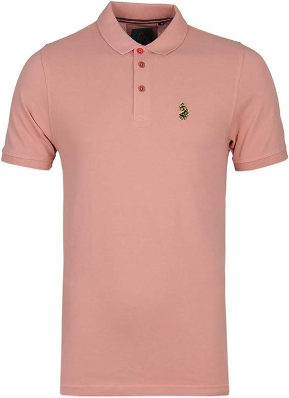 LUKE 1977 Williams Dusky Pink Polo Shirt