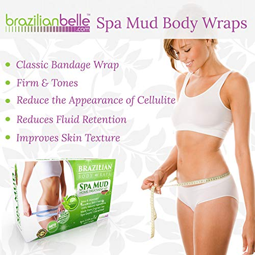 Brazilian Body Wraps - Spa Mud Home Treatment Kit for Women Slimming Home Spa Treatment for Cellulite, Weight Loss, Stretch Marks by Brazilian Belle (Image #1)