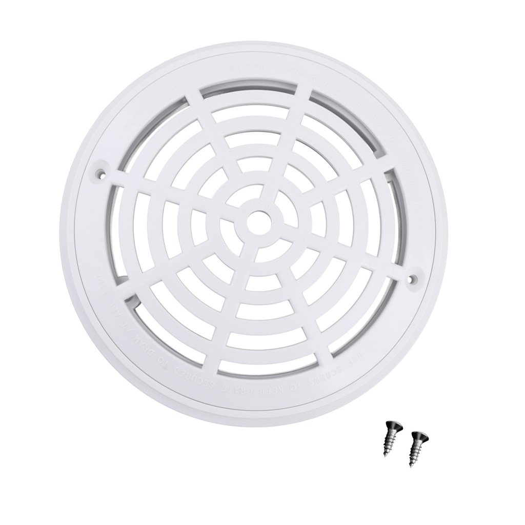 Dolity Durable White Main Drain Covers Inground Pool