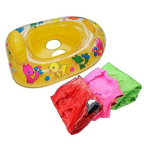 Paleo Inflable del asiento de seguridad para niños bebé balsa del flotador de silla anfibia diversión flotador de la piscina: Amazon.es: Hogar