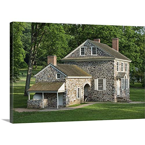 (GREATBIGCANVAS Gallery-Wrapped Canvas Entitled Washington's Headquarters at Valley Forge, Pennsylvania by 36