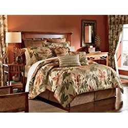 Croscill Home Fashions Bali 4-Piece Harvest King Size Comforter Set