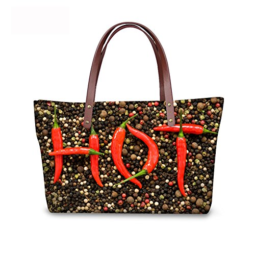 Women Casual Bages leather Handbags C8wc0434al FancyPrint Tote qnHtW0Wz