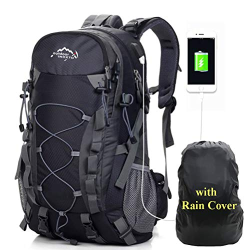 A AM SeaBlue 45L Wanderrucksäcke Männer Tagesrucksack Damen Trekking Rucksäcke Leicht Outdoor Sport Taschen mit USB Port…