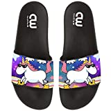 Cute Unicorn With Sunglasses Summer Slide Slippers For Girl Boy Kid Non-Slip House Sandal Shoes size 2