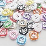 Chenkou Craft Plastic Button Ornament 12*12mm 80pcs