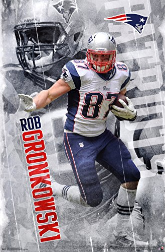 "Trends International RP13664 Wall Poster New England Patriots Rob Gronkowski,,22.375"" X 34"""