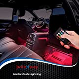 briteNway Car Interior Lights Gadget - 7 Colors and Multiple Pattern for Front & Back Underdash Decoration Lighting Accessories 12v Music Rhythm & Sound Activation Function